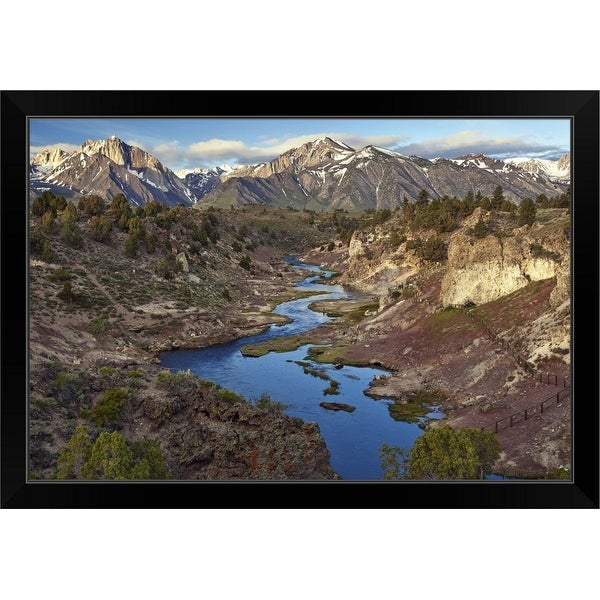 """Hot Creek Geothermal Area, California"" Black Framed Print"