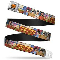 Hamburger Full Color Black Bob's Burgers Belcher Family Group Pose In Seatbelt Belt