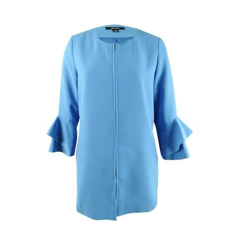 Alfani Women's Flared-Sleeve Collarless Jacket (XL, Glazed Cobalt) - Glazed Cobalt