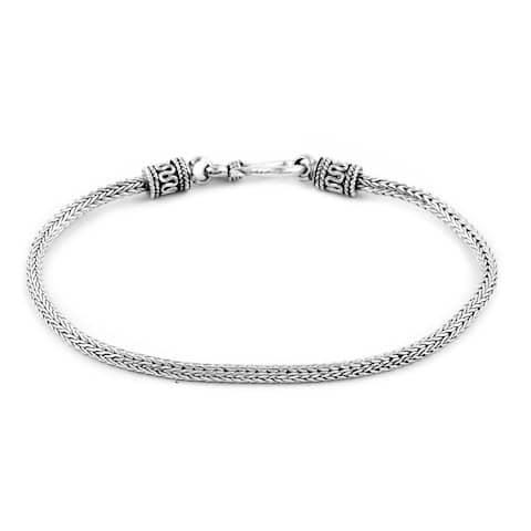 BALI LEGACY Bracelet 925 Sterling Silver Filigree Design Hook Clasp - Bracelet 7.25''
