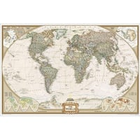 National Geographic RE00622086 World Executive - Enlarged Map