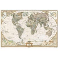 National Geographic  World Executive - Enlarged And Laminated Map