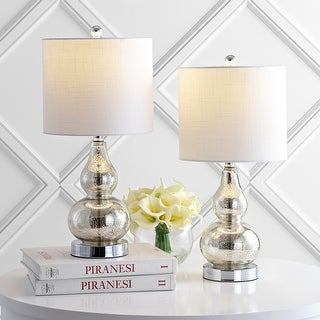 "Link to Anya 20.5"" Mini Glass Table Lamp, Set of 2 by JONATHAN  Y Similar Items in Lamp Sets"