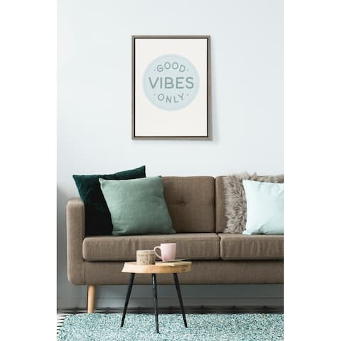 Kate and Laurel Sylvie Good Vibes Canvas by The Creative Bunch Studio