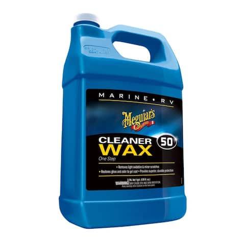 Meguiars Boat/Rv Cleaner Wax Liquid 1 Gal - M5001