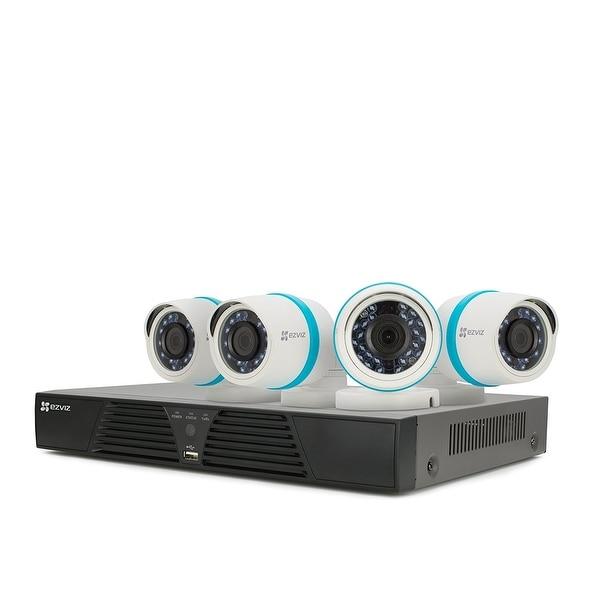 Ezviz Outdoor 1080P Ip Poe Video Security Surveillance System, 4 Weatherproof Hd Cameras, 4 Channel 1Tb Nvr Storage, 100