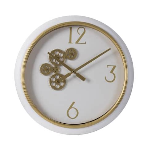 A&B Home Modern Chic 20-inch Purple Marble Effect Wall Clock