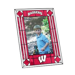 University of Wisconsin Badgers Art Glass Vertical Picture Frame