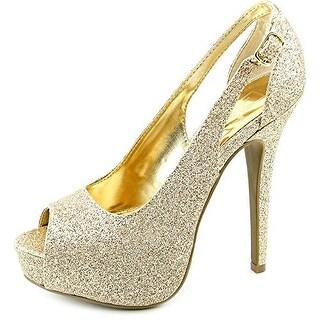 Material Girl Havic Peep Toe Platform Heel