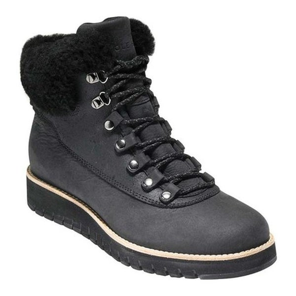 6befda3f174b Cole Haan Women  x27 s GrandExplore Waterproof Hiker Boot Black Waterproof  Leather Shearling