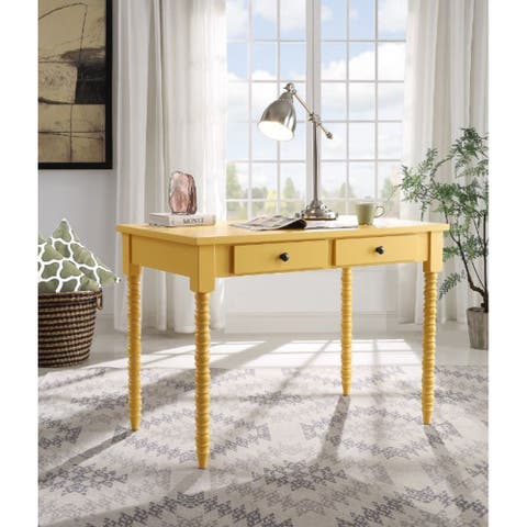 TiramisuBest Writing Desk, Yellow Finish 93013
