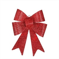 17 in. LED Lighted Battery Operated Vibrant Red Bow Christmas
