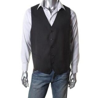 Sean John Mens Suit Vest Shadow Pattern Lined