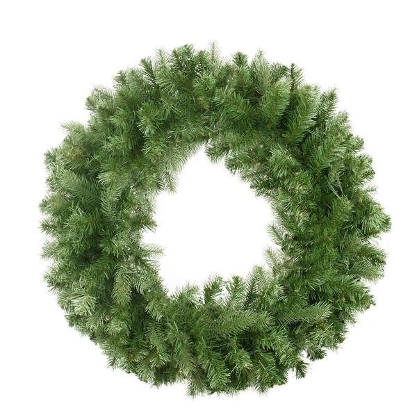 """30"""" Noble Fir Artificial Christmas Wreath - Unlit - green"""