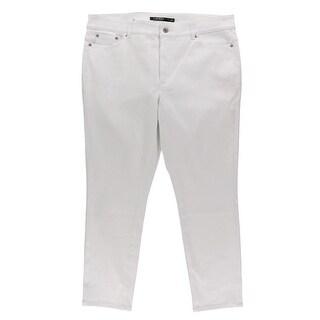Lauren Ralph Lauren Womens Cropped Jeans Premier Straight Leg