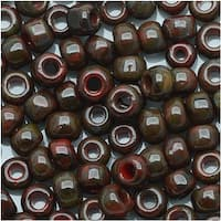 Toho Round Seed Beads 6/0 Y304 - Hybrid Pepper Red Picasso (8 Grams)