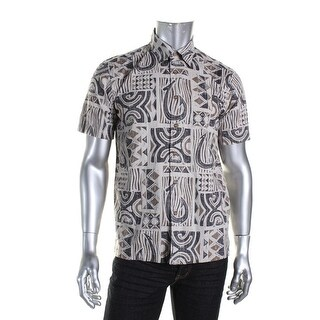 Quiksilver Mens Cotton Printed Button-Down Shirt - XXL