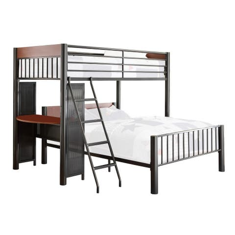 Industrial Style Metal Twin Bed with Semicircular Shelf, Black