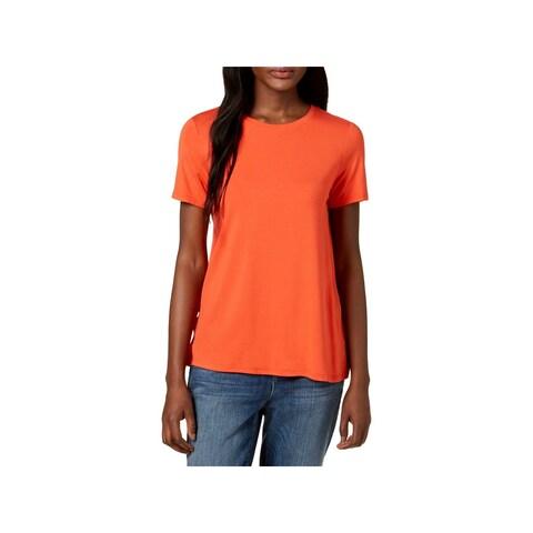 Eileen Fisher Womens T-Shirt Lightweight Short Sleeves