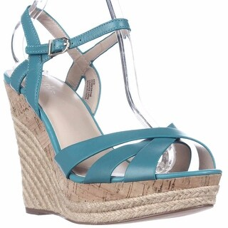 Charles by Charles David Astro Wedge Cork Espadrille Sandals - Turquiose