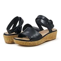 Ono Womens Dreamy Open Toe Casual Platform Sandals