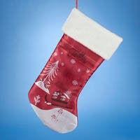 "19"" Angry Birds Red with White Cuff Decorative Printed Christmas Stocking"
