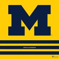 Michigan University Wall Calendar, Michigan Wolverines by TF Publishing