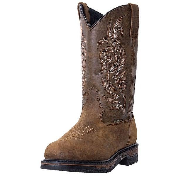 Laredo Work Boots Mens Leather Sullivan Waterproof Steel Toe Tan