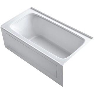 "Kohler K-1150-RA Bancroft Collection 60"" Three Wall Alcove Soaking Bath Tub with Right Hand Drain"