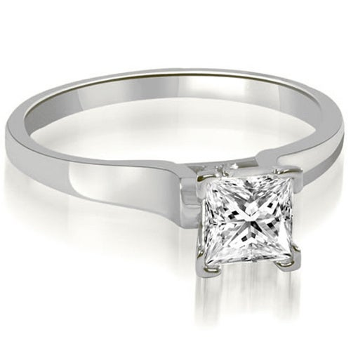 0.50 cttw. 14K White Gold Stylish V-Prong Solitaire Diamond Engagement Ring