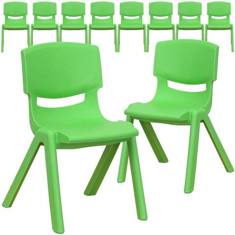 """10 Pack Plastic Stackable School Chair with 12"""" Seat Height - Preschool Chair"""