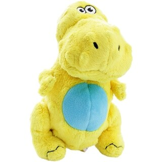 Yellow - goDog Dinos T-Rex with Chew Guard Large