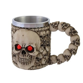 Wickedly Awesome Skull Mug with Red Eyes