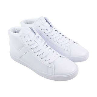 Pony Topstar Hi Mens White Leather High Top Sneakers Shoes