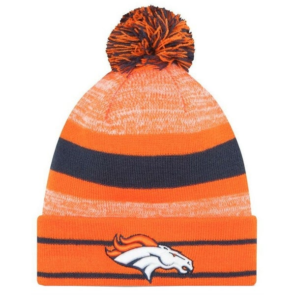 detailed look 20f20 03cf5 Shop New Era 2019 NFL Denver Broncos Cuff Pom Knit Hat Beanie Stocking  Winter Skull - Free Shipping On Orders Over  45 - Overstock - 27994364