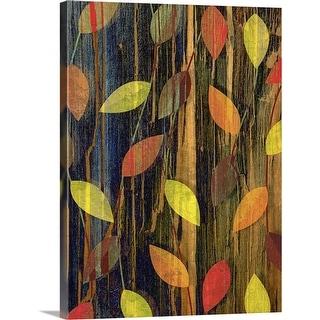"""Autumn season leaves"" Canvas Wall Art"