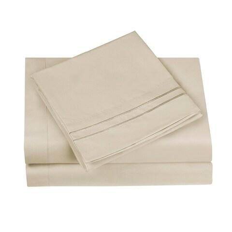 Hotel Luxury Soft Pillowcases (Set of 2), Wrinkle & Fade Resistant,1500 Premium Series