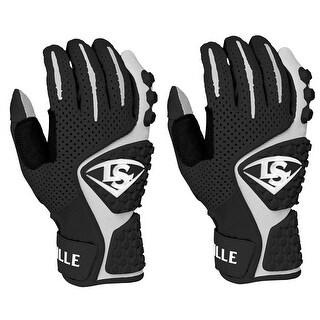 Louisville Slugger Youth Advanced Design Batting Gloves - Black