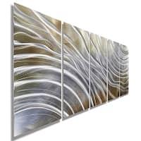 Statements2000 Gold & Silver Abstract 3D Metal Wall Art by Jon Allen - Glacial Rift