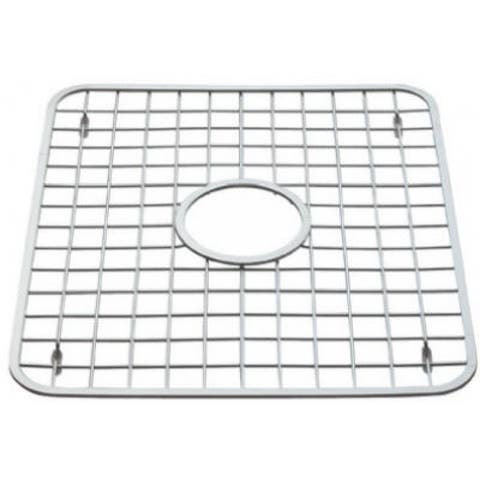 InterDesign 72102 Sinkworks Sink Grid with Hole, Polished Stainless Steel