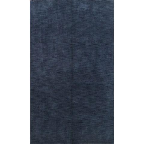 "Solid Contemporary Gabbeh Oriental Area Rug Handmade Wool Carpet - 5'6"" x 8'2"""