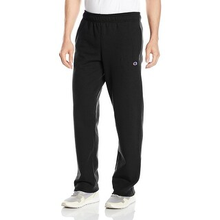 Champion Men's Jersey Elastic Band Black Pants Size Extra Large