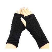 Knitted Fingerless Winter Gloves