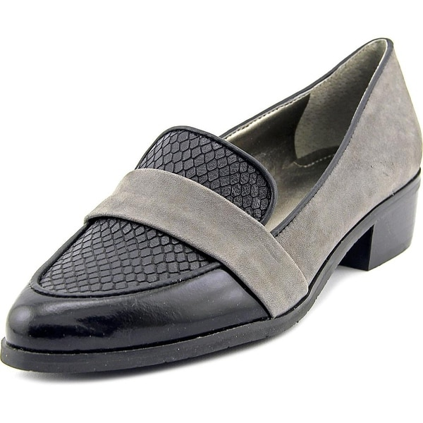 Tahari Lucille Women Apron Toe Leather Gray Loafer