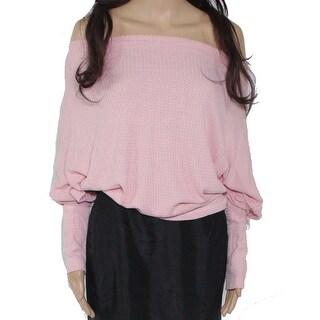 Link to Sadie & Sage Women's Sweater Bubblegum Pink Size Medium M Off-Shoulder Similar Items in Intimates