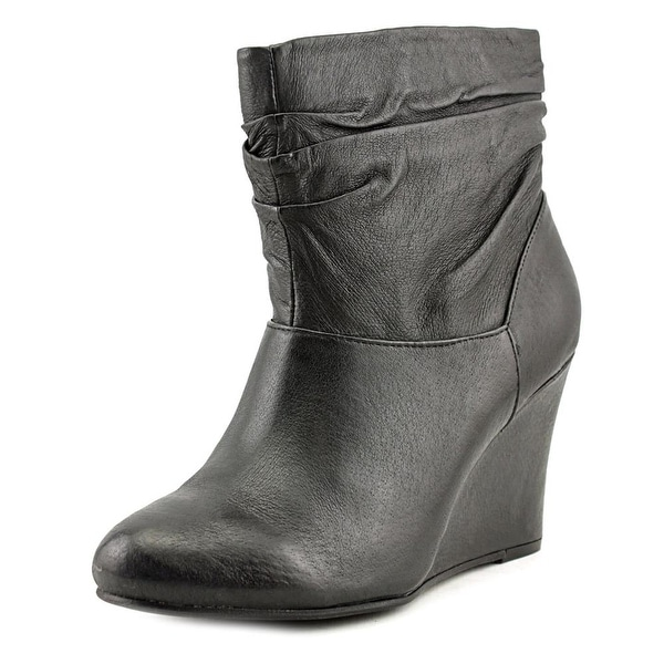 Chinese Laundry U Bet Women Round Toe Leather Black Ankle Boot
