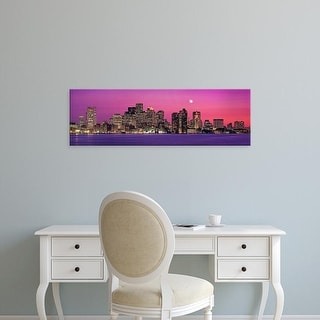Easy Art Prints Panoramic Image 'USA, Massachusetts, Boston, View of an urban skyline by the shore' Canvas Art
