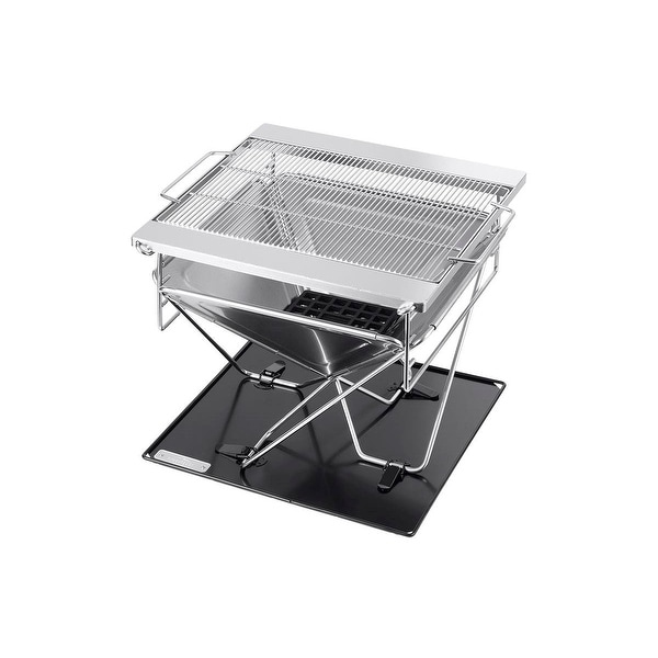 Monoprice Stainless Steel Folding Charcoal Grill, Adjustable Grilling Grid, Portable, Multiuse Design - Pure Outdoor Collection. Opens flyout.