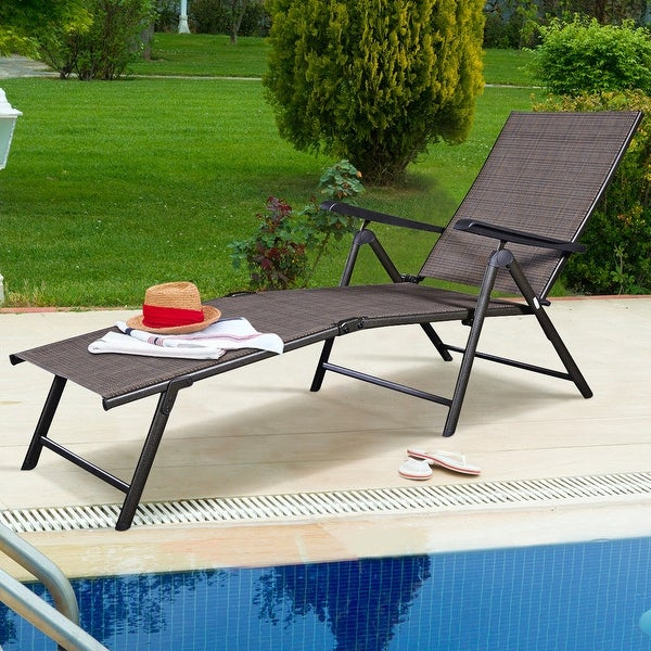 Shop Costway Pool Chaise Lounge Chair Recliner Outdoor