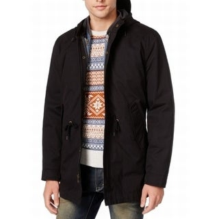 American Rag NEW Black Mens Size Large L Two In One Hooded Jacket